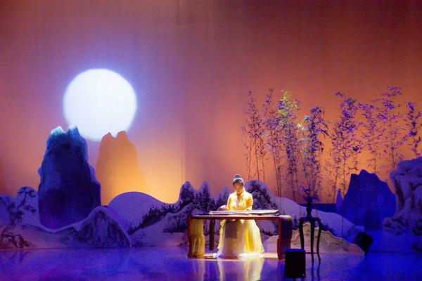 羊琼主演的《剑胆琴心》古琴名曲音乐会在福田会堂举行