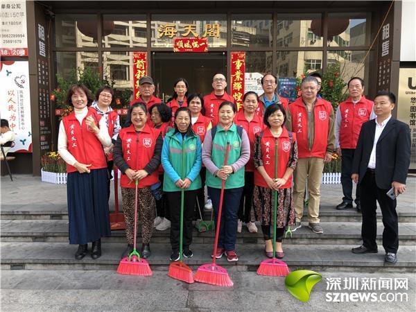 广东:凤凰社区开展春节环境卫生整治