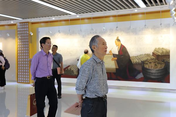 李祥国画作品展开幕 10幅巨幅国画描绘中华文明历