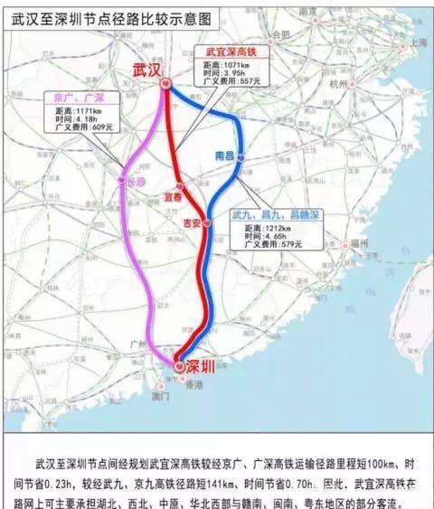 武汉至深圳拟新建高铁,途经江西间隔更近、时间缩短半个小时