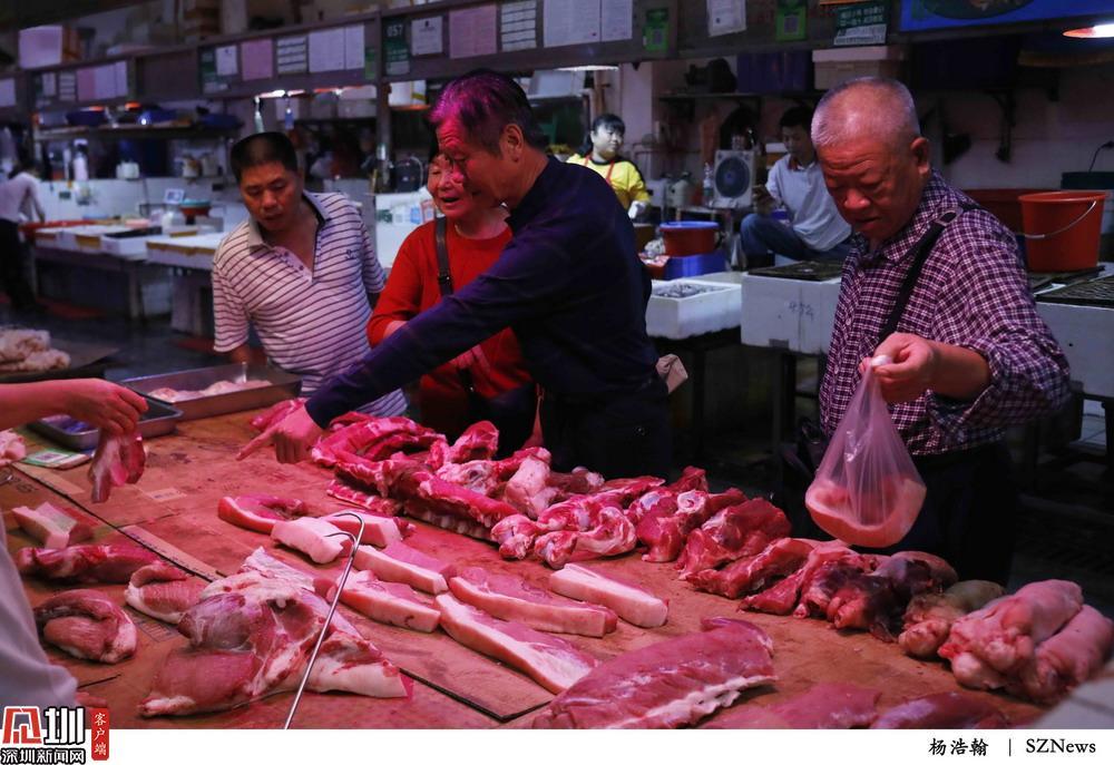 福田农批市场猪肉价格回落