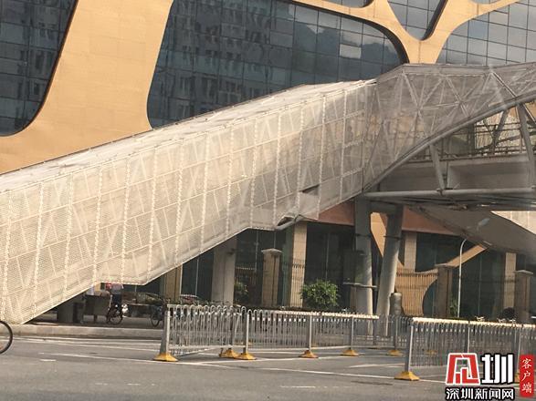 """""""民生盐田"""":天桥的铝板部件脱落存隐患 管养"""