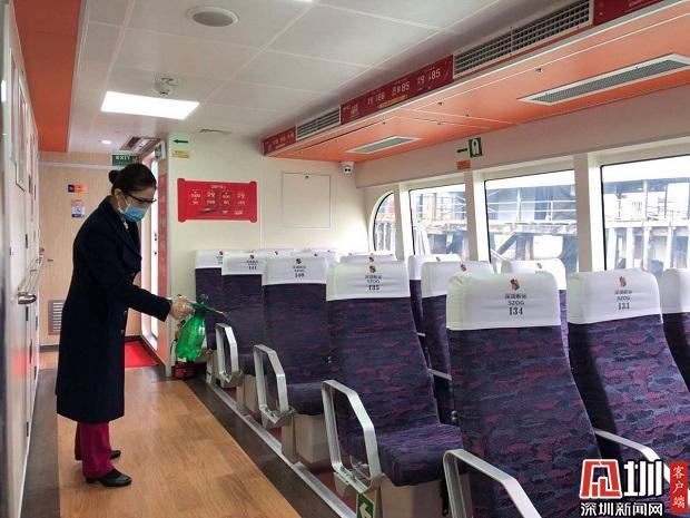 蛇口开往珠海香港澳门海上航线航班有调整 旅客乘船需隔位而坐