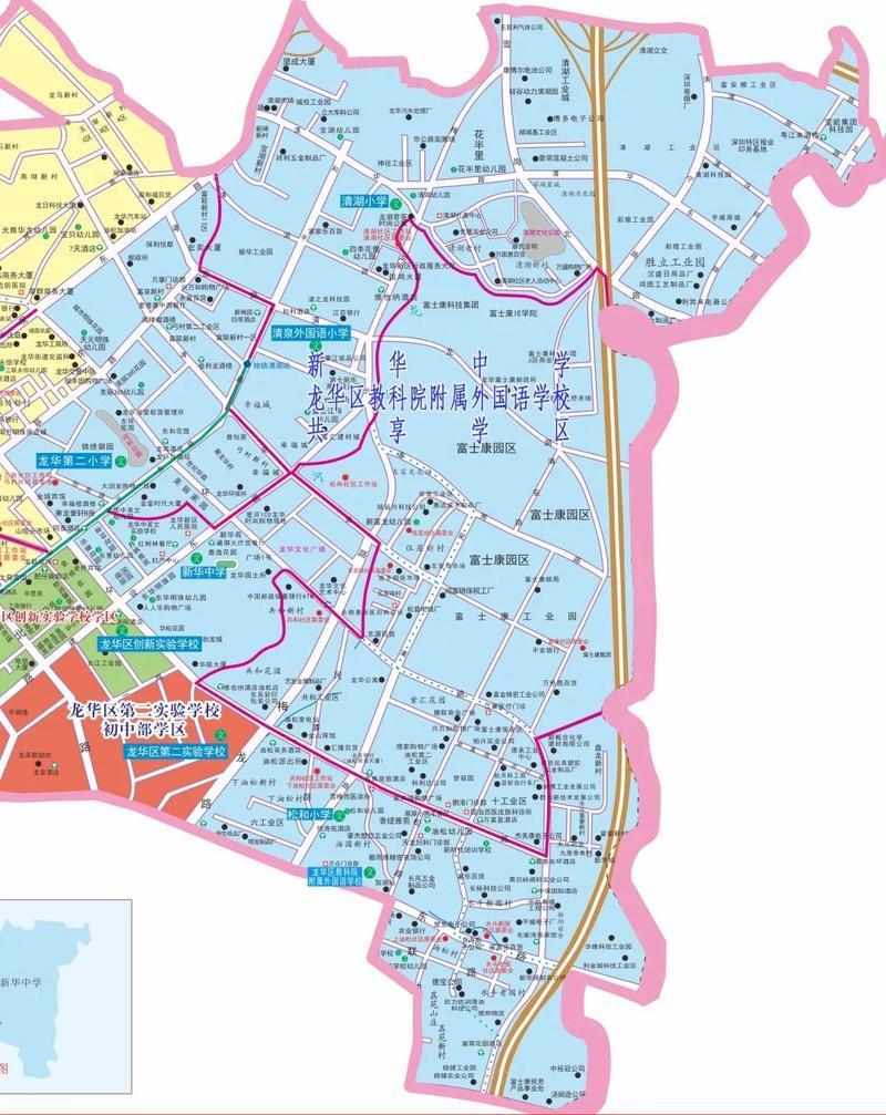龙华第三小学第三外国语等三所公办学校共享招生范围正式公布