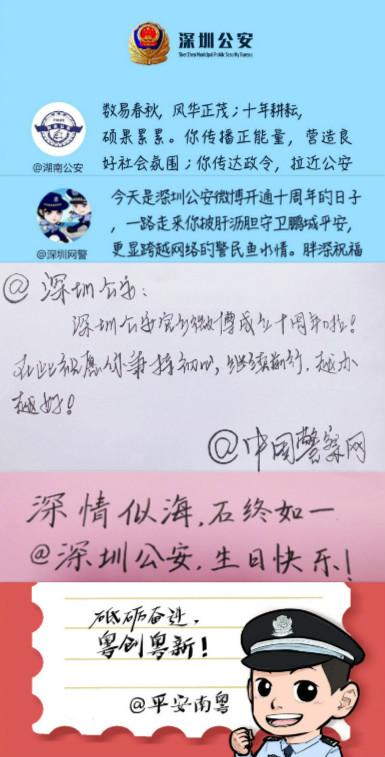 外卖代运营公司排行:深圳公安官方微博10岁了!10年总阅读量超40亿