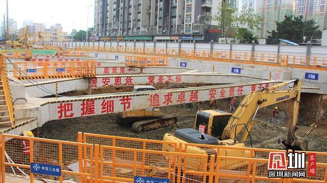 地铁8号线二期最新进展 北山道站进入主体施工阶段