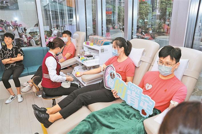 深圳启用首个智慧5G体验捐血站