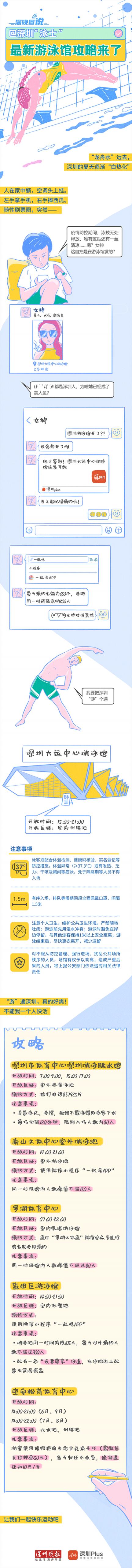 """一图读懂 @深圳""""泳士"""",最新游泳馆攻略来了"""