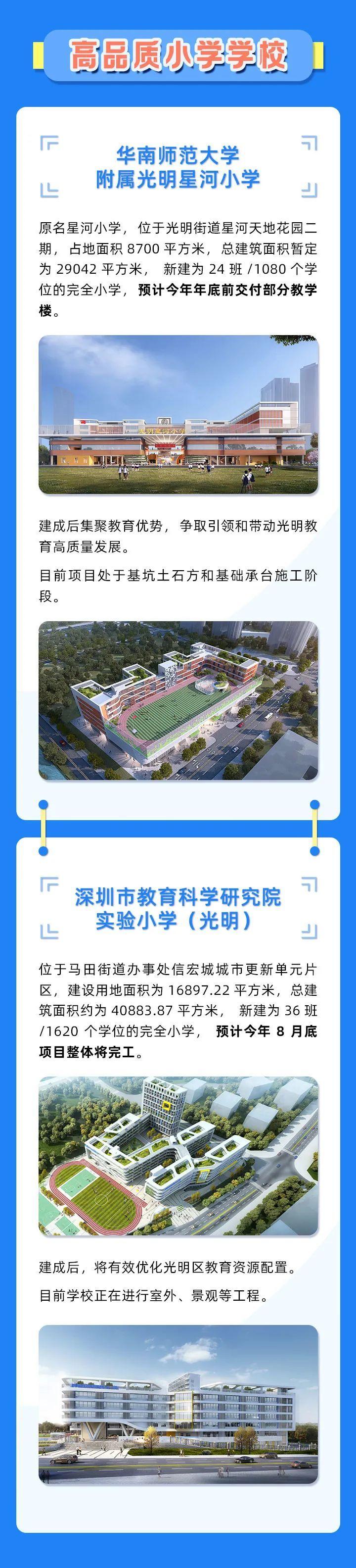上新啦!一图带你了解光明区9所新学校→