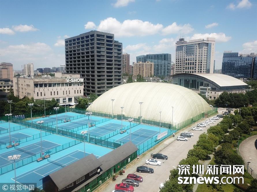 杭州体育馆_气膜体育馆亮相杭州黄龙体育中心.