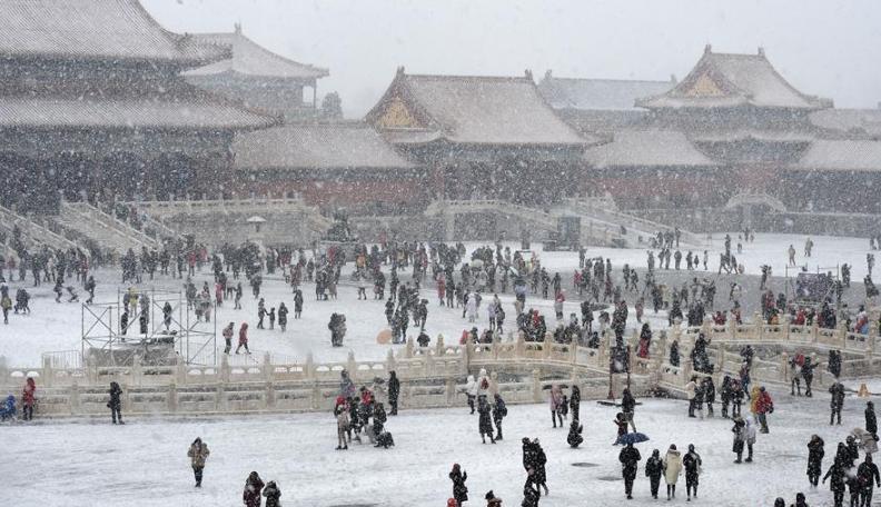 大美!雪落紫禁城