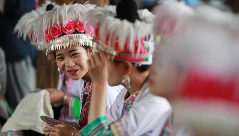 贵州:侗族同胞欢度谷雨节