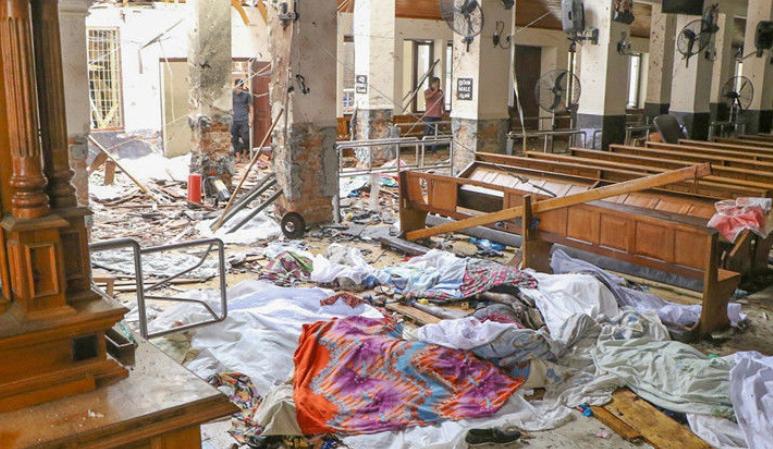 斯里兰卡爆炸袭击现场惨烈