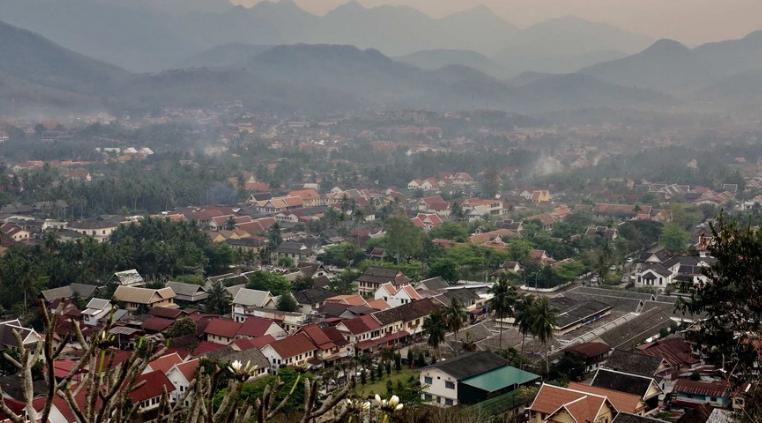 湄公河畔的小山城  保存着最完好的东南亚历史风貌