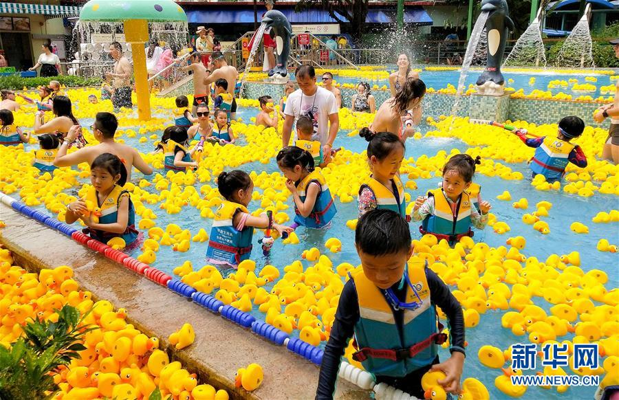 广州:与小黄鸭同戏水