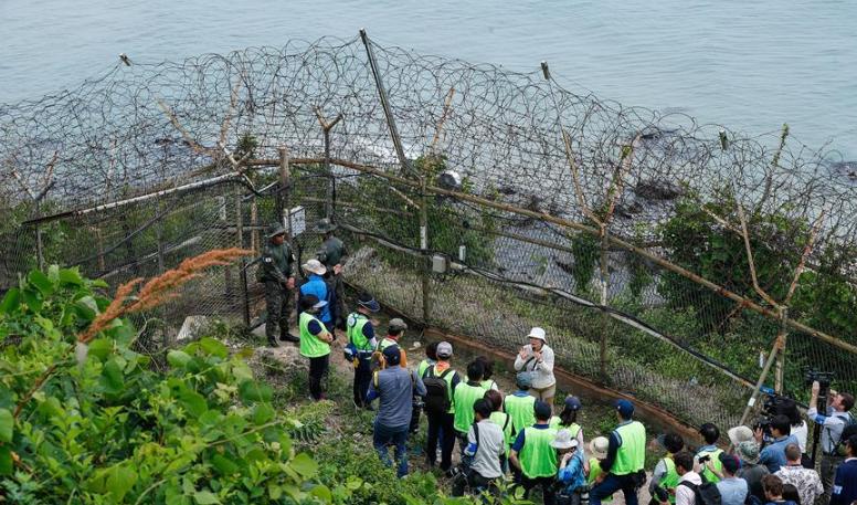 """探访韩朝边境""""非军事区和平之路"""""""