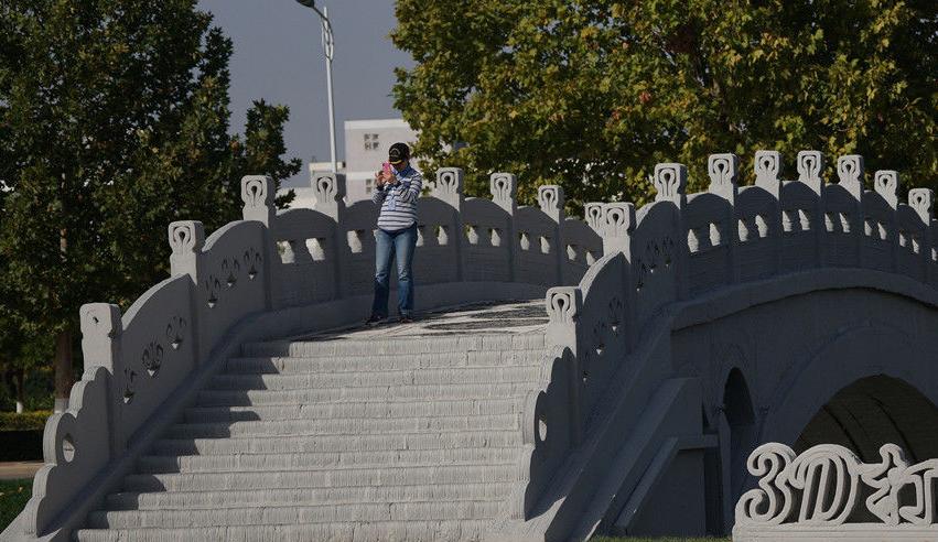 """3D打印""""赵州桥""""亮相河北  创三项世界纪录"""