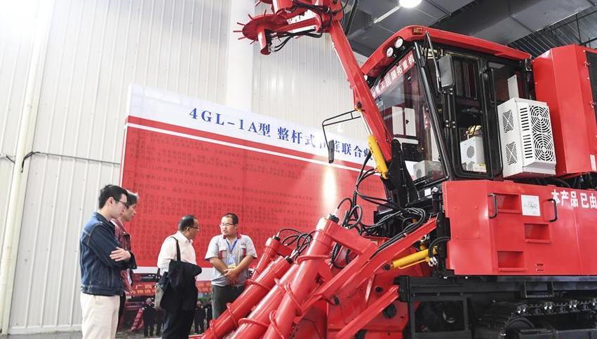 收割甘蔗的机器你见过吗?2019中国甘蔗机械化博览会举行