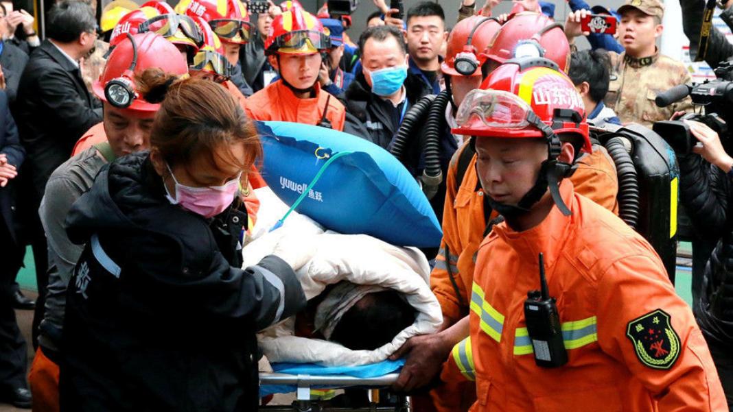 山东济宁:梁宝寺煤矿火灾事故被困11名矿工全部获救