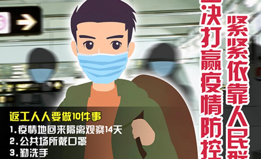 复工复产防疫主题宣传片、宣传画