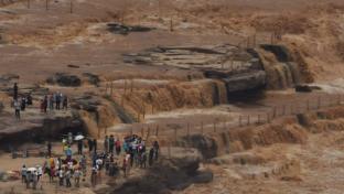 黄河壶口瀑布现入汛以来最大流量