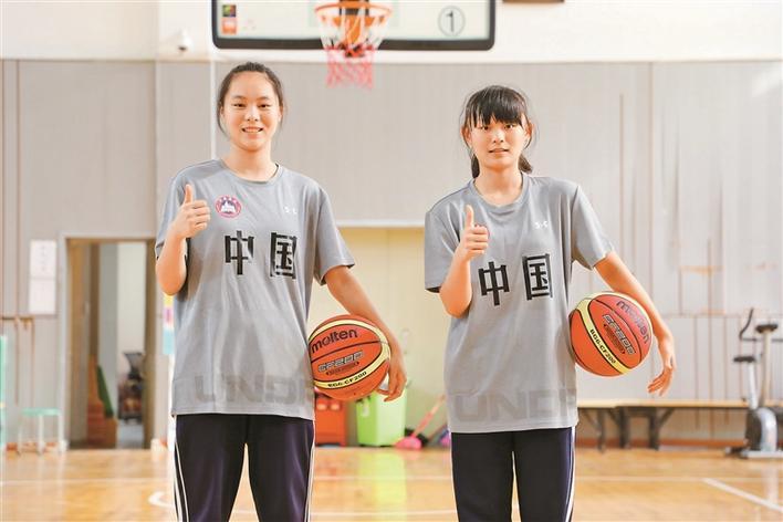 南山麒麟中学出了两位国手级女篮苗子
