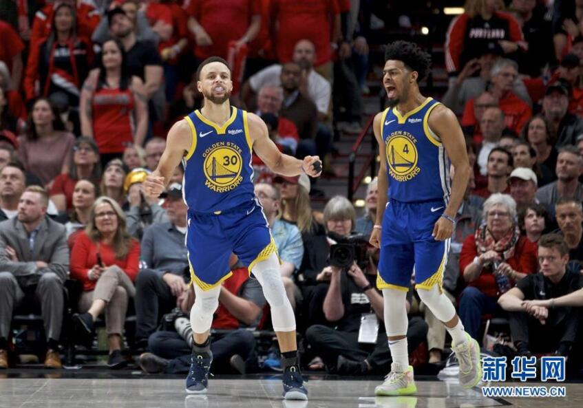 NBA:勇士队夺得西部冠军