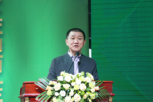 乐虎国际市消费者委员会秘书长冯念文致辞