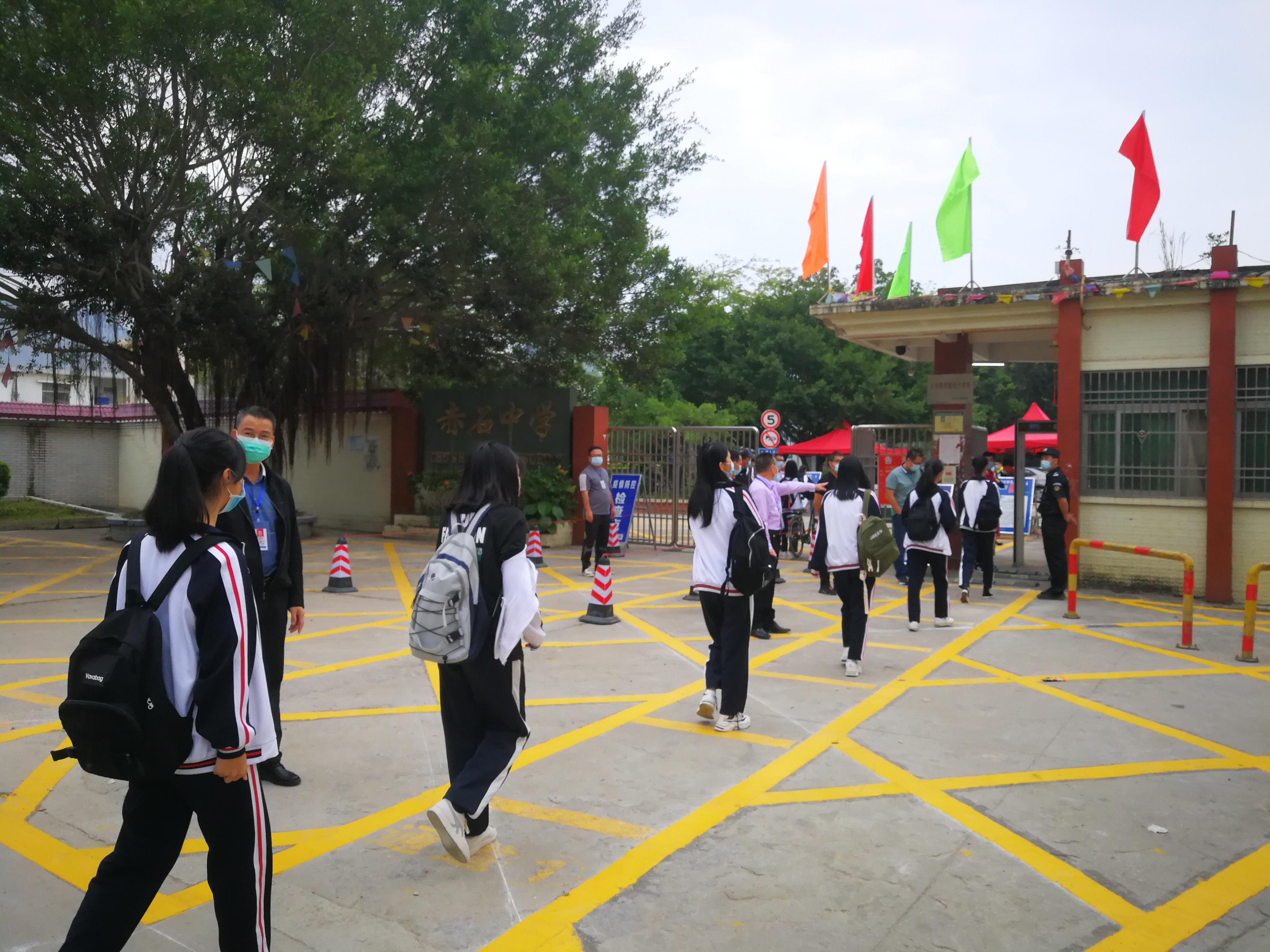 在现场|深汕合作区赤石中学返校第一天