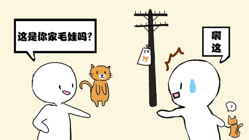 猫:你就是不想把我找回来吧!?