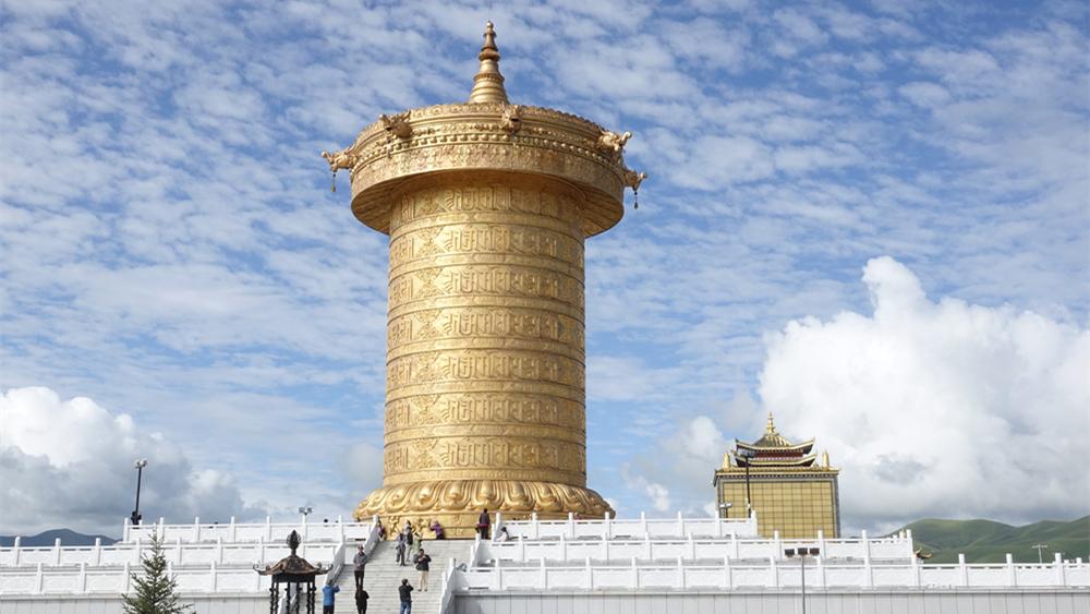奇观天下|绝了!60公斤黄金铸造的全球最大转经筒就在国内!